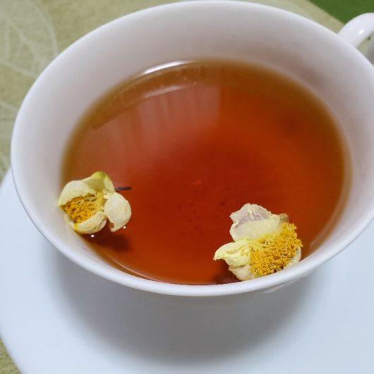 紅茶に茶花